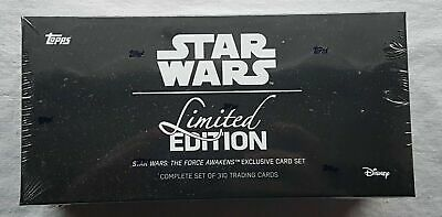 Topps Star Wars The Force Awakens Limited Edition Set Box only 1000 sets!!!