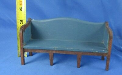 Vintage Tynietoy Dollhouse Miniature Sheraton Sofa Setee Furniture Ink Stamp