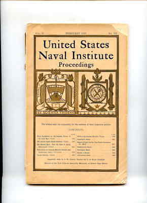 PB BK United States Naval Institute Proceedings Feb 1919 Monthly Issue