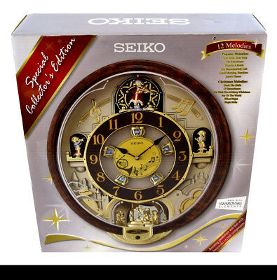 NIB Rare Seiko 12 Melodies In Motion Special Collectors Edition QXM487BRH (1473)
