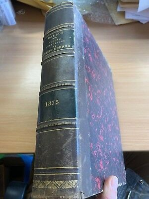 "1875 French Law ""dalloz - Recueil Periodique De Jurisprudence"" Huge Heavy Book"