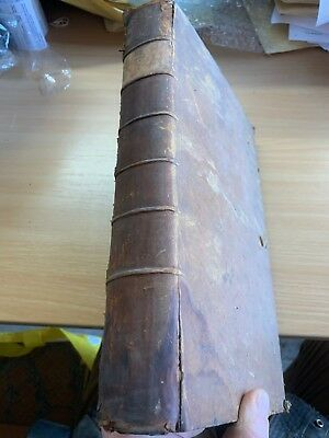 "1785 Law ""reports Of Cases In High Court Of Chancery"" Large Heavy Leather Book"
