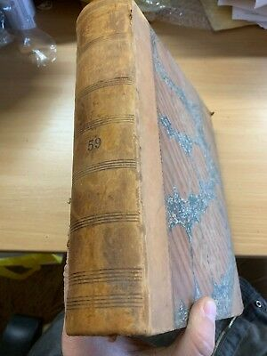 "1895 Antique Law ""the Justice Of The Peace"" Vol Lix Large Heavy Leather Book"