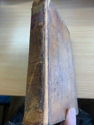 "1829 Antique Law ""system Of Conveyancing"" Large Heavy Leather Book"