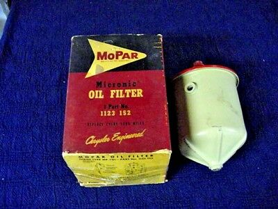 1934-36-40-48-50-52-54 Mopar Plymouth Dodge Desoto Chrysler Oil Filter Assy (Nos