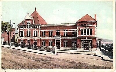 Early 1900's The L. & N. Railway Station in Knoxville, TN Tennessee PC