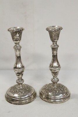 Antique Gorham Sterling Silver Buttercup Tall Candlesticks 987 RARE Size