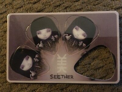 Seether Guitar Pic Set From Finding Beauty In Negative Spaces. Unused/Candace