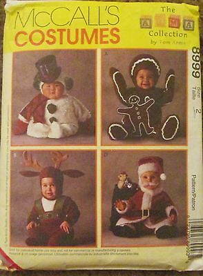 McCALL'S Sewing Pattern #8999 TODDLER CHRISTMAS REINDEER COSTUME '97 Sz 2 CUT
