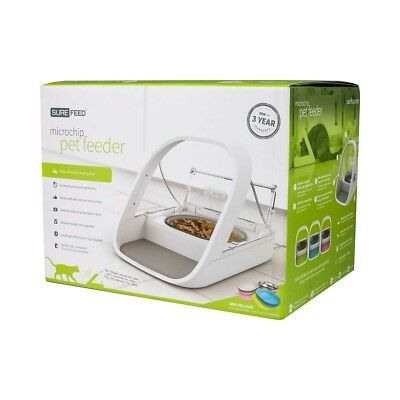 SureFeed Microchip Small Dog & Cat Feeder, White  - FREE SHIPPING *NEW*