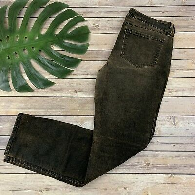 NYDJ Not Your Daughters Jeans Skinny Size 12 Brown Copper Coated Stretch