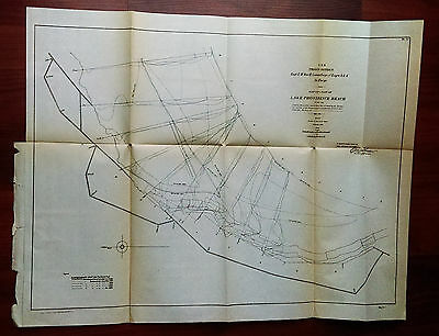 1904 Map of 3rd District Lake Providence Reach Shows Dredging