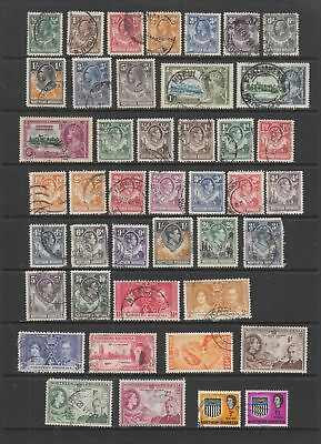 Northern Rhodesia used collection, 43 stamps, mixed condition.