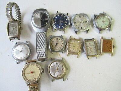 Large assorted job lot of vintage men's wrist watches