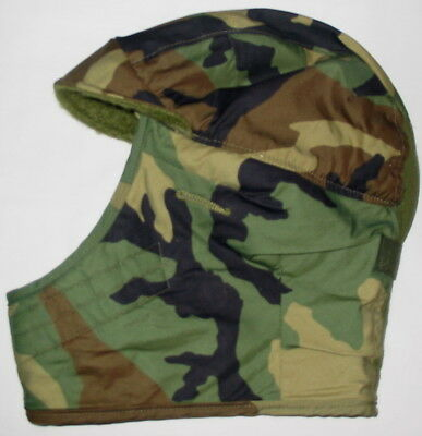 Military Woodland Camouflage CAP Cold Weather Insulating Helmet LINER Size 7 1/4