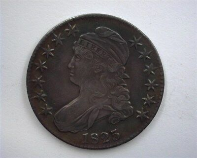 1825 Capped Bust Silver 50 Cents -Double Profile- Near Choice Uncirculated
