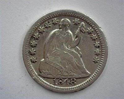 1848-O Seated Liberty Silver Half Dime Nearly Uncirculated