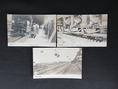 1910 PANAMA CANAL Army Engineers Construction Numbered Photo Postcards (3)