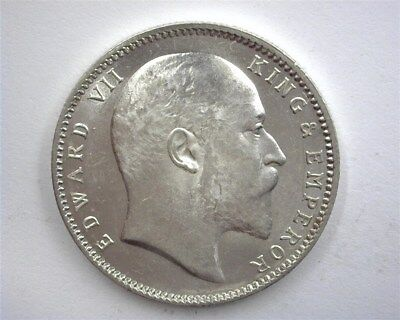 India 1903(C) Silver Rupee  Near Gem Uncirculated+