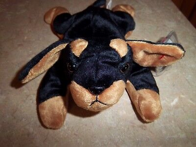 Ty Beanie Baby Doby - (Dog Doberman 1996) With Tags - Excellent Condition!!!