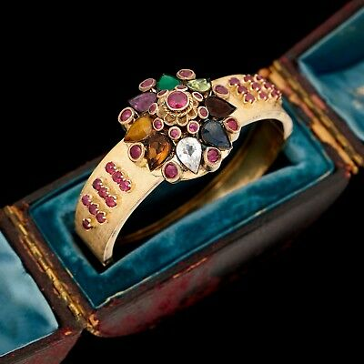 Antique Vintage Art Deco Retro 18k Gold SIAM Princess Ballerina Harem Bracelet