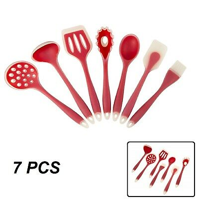 Silicone Cooking Utensils Set Kitchen Tools Nonstick Baking Cookware Gadgets 7pc