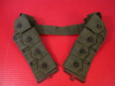 post-WWII USMC Dismounted M1923 Ammunition Cartridge Belt - M1 Garand 1952  NICE