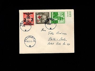 Germany WWII Occupied Poland Tluszcz Commercial Mail 1940 Scarce Great Cover 5k