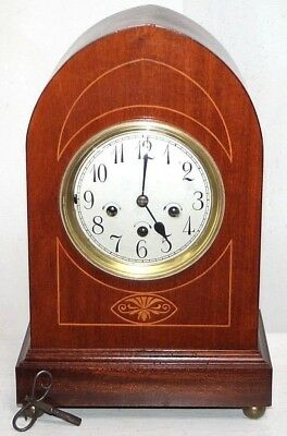 "Antique Massive ""junghans B09"" Gothic Beehive Bracket Clock W/ Westminster Chime"