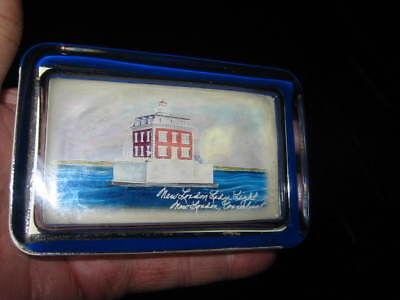 NEW LONDON LEDGE LIGHT CT  Lighthouse GLASS PAPER WEIGHT