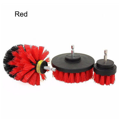 Set of 3 Scrubber Cleaning Brush Drill Attachment Tub Cleaner Combo Tool Hot