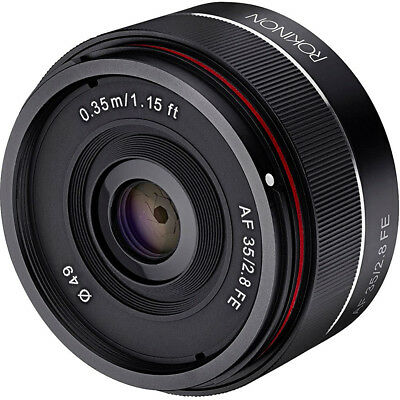 Rokinon 35mm f/2.8 FE Ultra Compact Wide Angle Lens for Sony E Mount, Black
