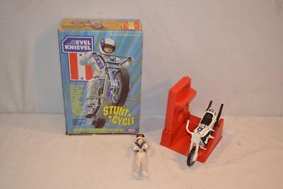 Vintage 1975 Ideal Evel Knievel Stunt Cycle Motorcycle w Box
