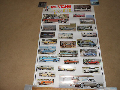 1965 - 1973 FORD MUSTANG DOES IT 23 by 36 POSTER /  BROCHURE 1978 VINTAGE