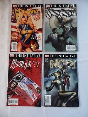 Lot of 4 old - THE INITIATIVE -  MARVEL COMICS