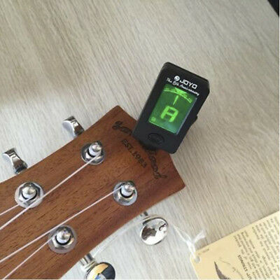 For Acoustic Electric Guitar Bass Ukulele Violin Chromatic Clip-On Digital Tuner
