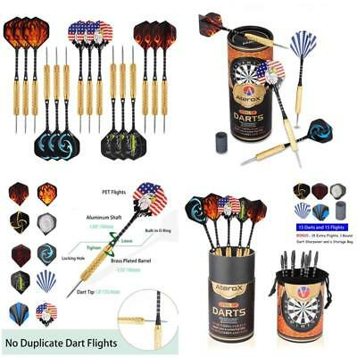 Darts Steel Pack Grams Millstone Sharpener Extra Shaft Perfect for All Levels
