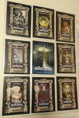 Disney - Haunted Mansion Eddie Murphy 2003 -Complete 9 Trading Card PROMO Set