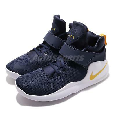 newest collection 31fcb 6980b Nike Kwazi Midnight Navy Yellow White Men Basketball Shoes Sneakers 844839 -401