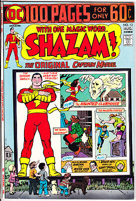 Shazam 13 VF/NM (9.0) DC Comics 1974 Captain Marvel 100 Page Giant Comic Books