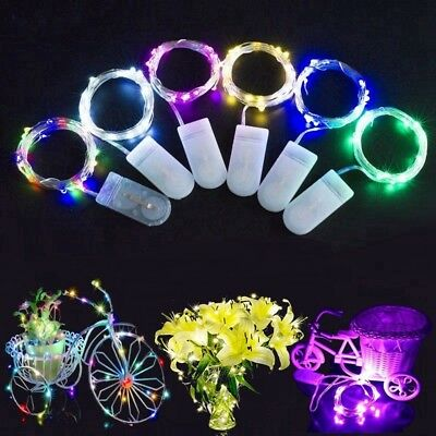 6Pack 20LED Battery Micro Rice Wire Copper Fairy String Lights Party Festival 2M