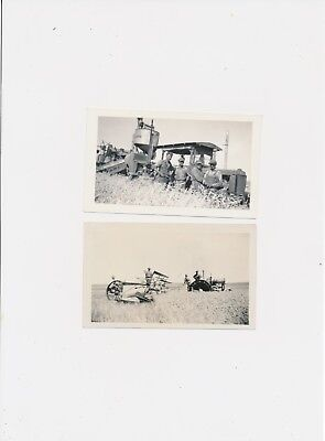 #4.2  Vintage Photo Case History Farming Tractor Seeder Men Occupational Working
