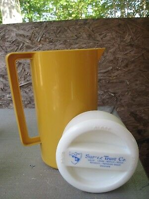 Sussex Trust Co. Gold Plastic Pitcher, Delaware Bank No Longer in Operation