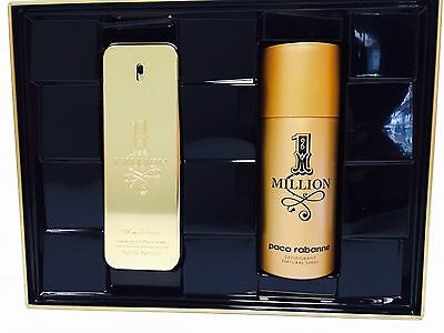 1 One Million Paco Rabanne 2Pc Gift Set Men 3.4 Oz + 5.0 Oz Deodorant Spray