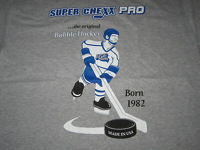 SUPER CHEXX PRO - bubble hockey Official T-shirt XL (X-large) NEW