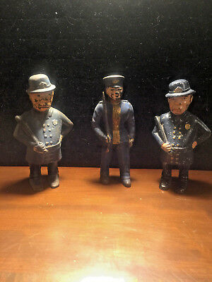 Mulligan and Blue Soldier cast iron banks and Mulligan metal bank lot of 3