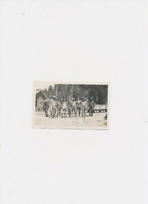 July 1930 Vintage Photo Philipsburg Montana Captioned w ID's on Back 9 Men Train