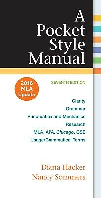 EB00K-A Pocket Style Manual, 2016 MLA Update Edition by Hacker and  Sommers