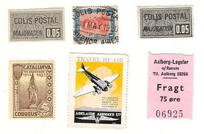 Old World * Local Colis Postal Bob = 4 = Foreign  Used&mint  + 1  Special Air+ 1
