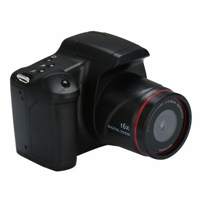 "Digital Camera SLR Anti-shake 1080P HD 2.4"" Inch TFT LCD Screen 16X Zoom Black"